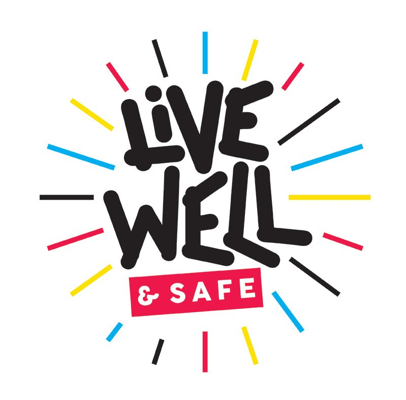 live well and safe logo
